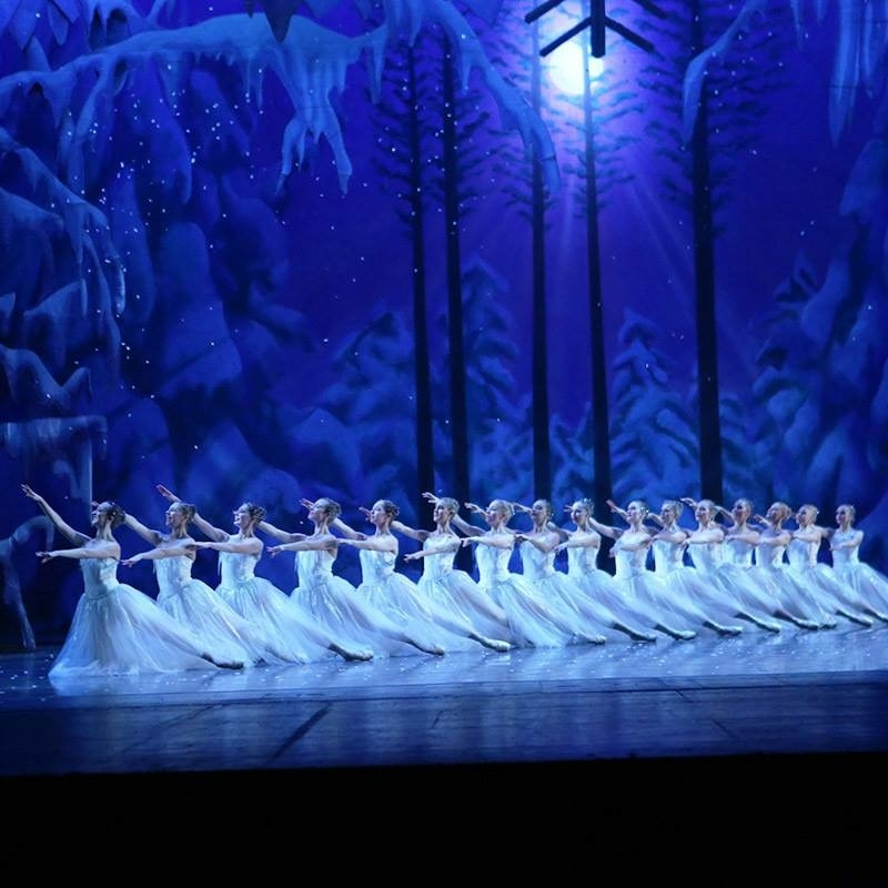 One of my favorite parts of the Nutcracker is the Land of Snow. Photo provided by Ballet Tucson.
