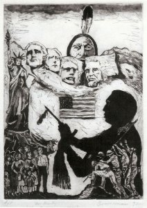 The American Way, etching by Robert Branaman