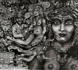 Sonbachtoo, ink drawing by Robert Branaman