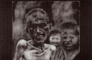 "Stephen Koharian, Armenian Genocide I, Oil, 10""x12"""