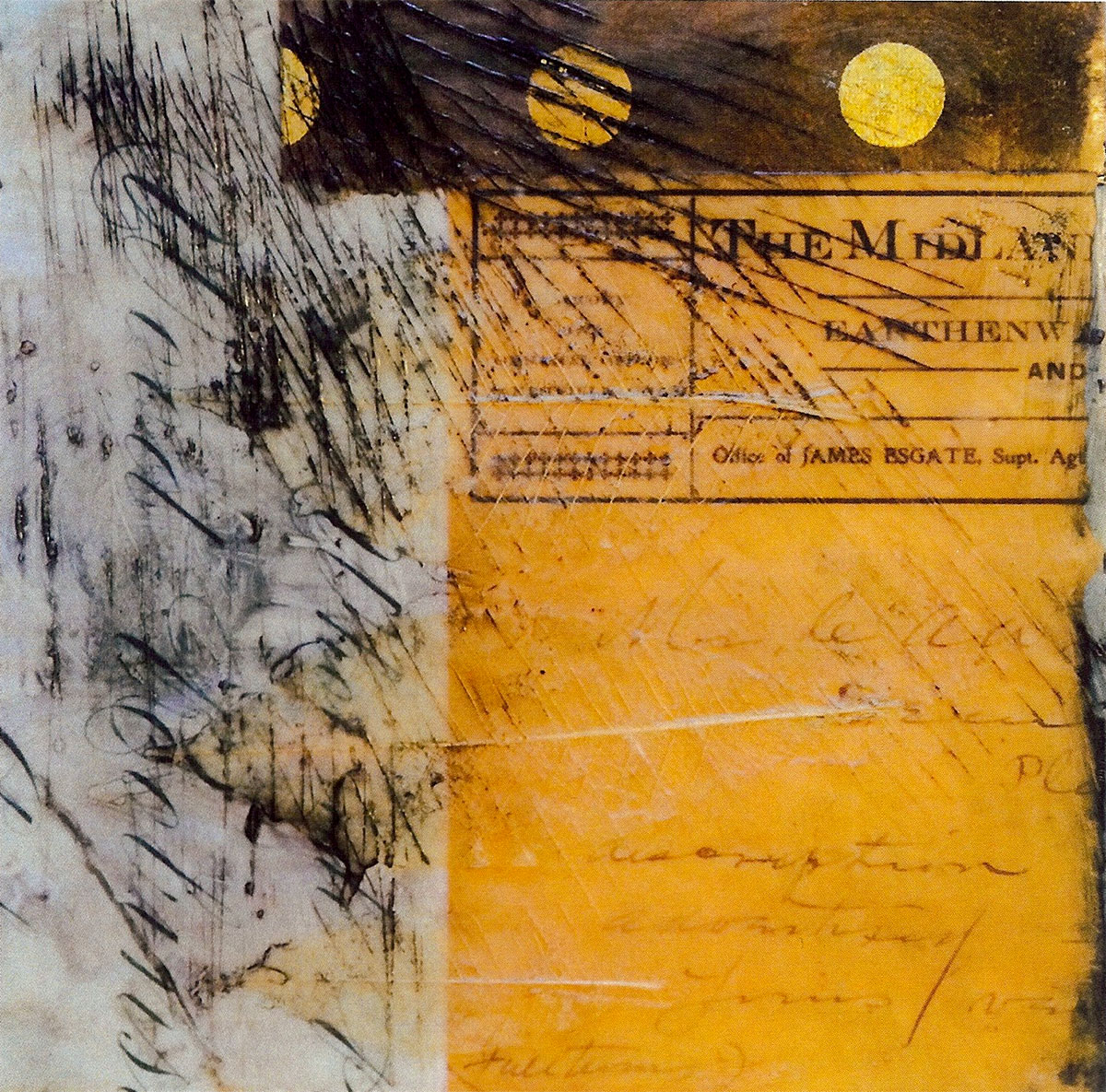 Wood-Robinson, encaustic by Berri Kramer