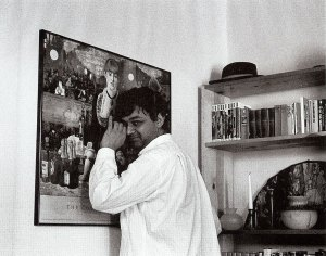 Agha Shahid Ali, Lancaster Suite No 4, photograph, 1990, by Stacey Chase