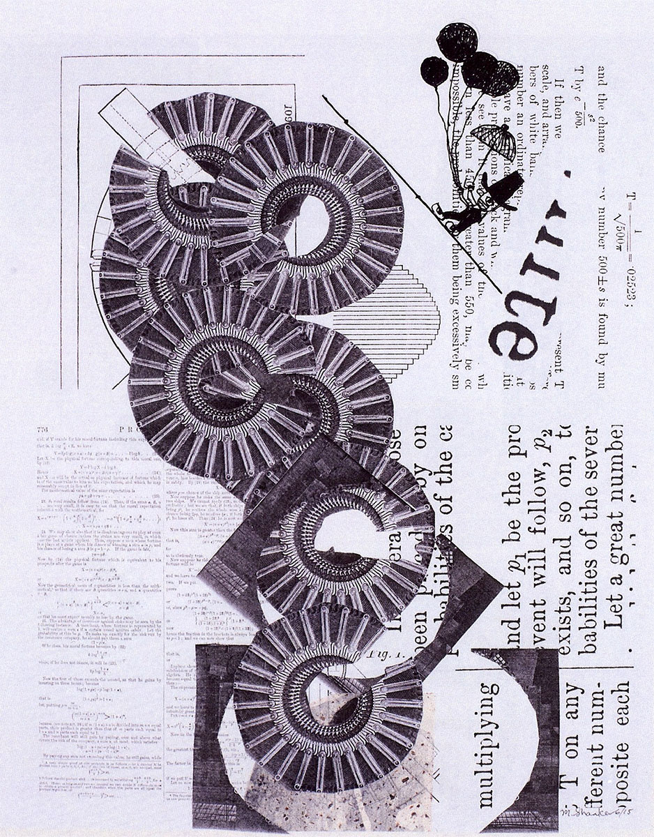 Unsteady Construct(ion), collage with pen& ink by Marc Shanker