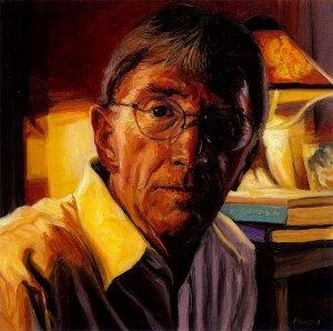 "Dan Gerber, black oil copper, 6""x6"", 2005 by Jack Richard Smith"