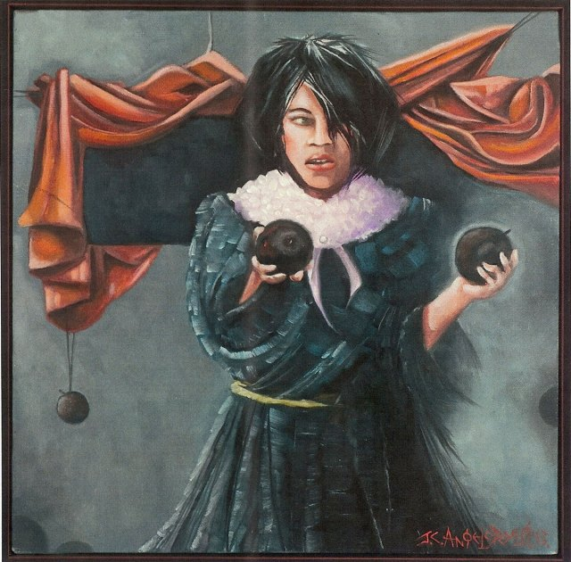 """Things Were Not..., 12""""x12"""" oil on canvas by John Angelopoulas"""