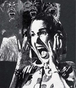 Screaming Lady 1 by Tom Stock; collage