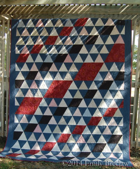Legacy bed-sized quilt pattern by Emily Breclaw