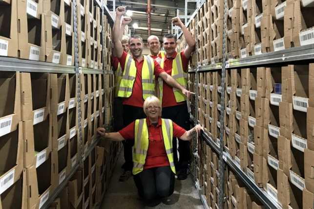 Our wonderful warehouse team