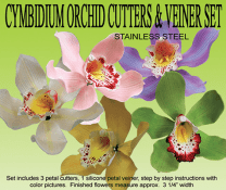 Cymbidium Orchid Cutter And Veiner Set By Petal Crafts