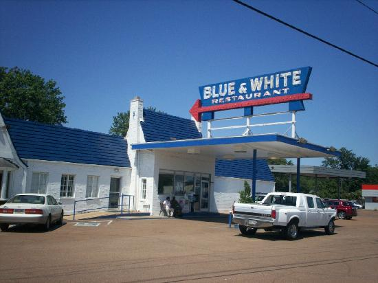blue and white restaurant tunica mississippi