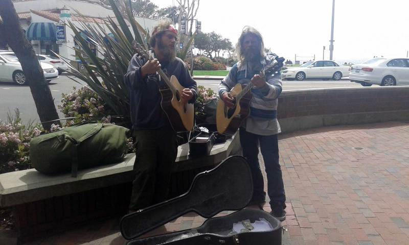 Jamming on the Streets of Laguna Beach.