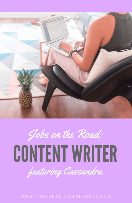 Jobs on the Road - Copywriter, Content Writer and Blog Coach Interview with Cassandra Le, Founder of The Quirky Pineapple Studio. Work Abroad | Remote Work | Entrepreneurship | Madrid, Spain