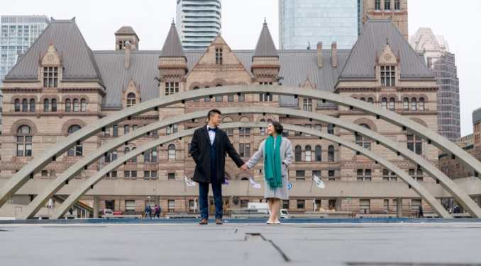 Toronto City Hall - Wedding Engagement Photo