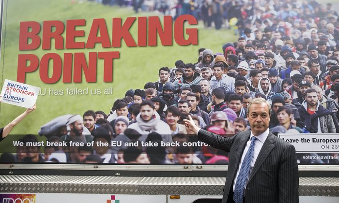 Brexit poster with Nigel Farage