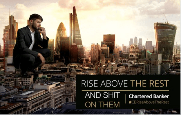 Everyone is mocking this unfortunate ad for 'Young Banker of the Year' (IMAGES)
