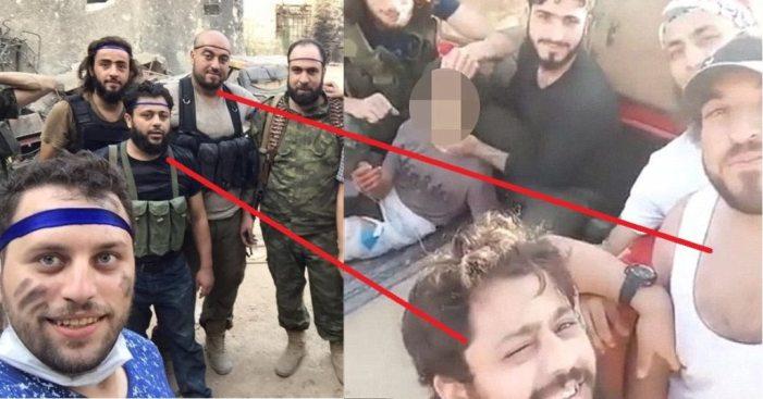 Zenki beheaders with Ambulance boy photographer