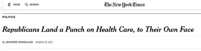 New York Times Trumpcare