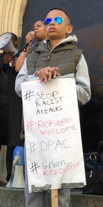 Child Stop Racist Attacks Demo