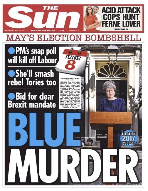 The Sun 19 April blue murder