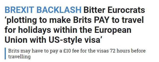 The Sun Outrageous Travel Visas EU