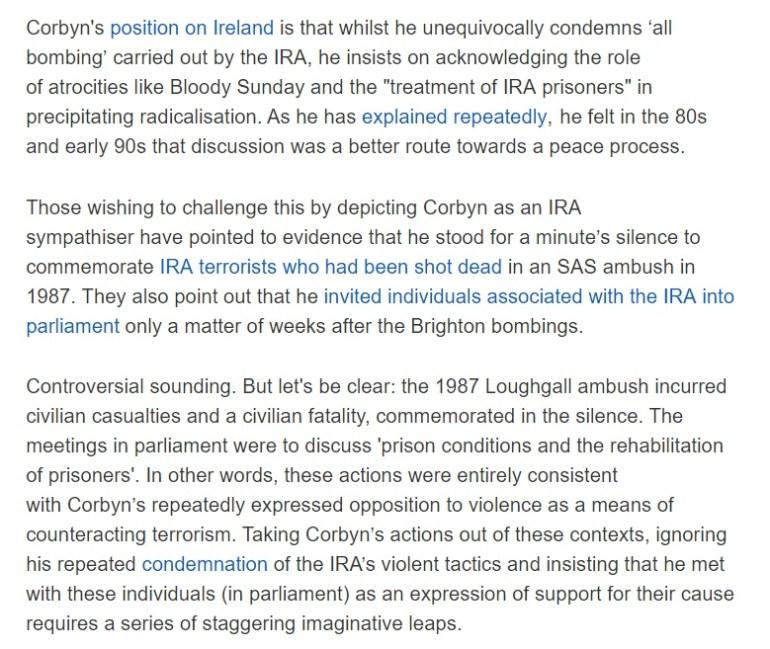 Corbyn IRA