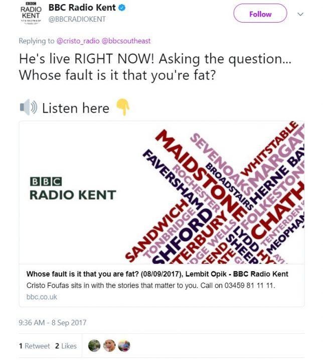 BBC Radio Kent Fat