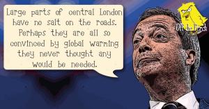 Nigel Farage spouts hot air
