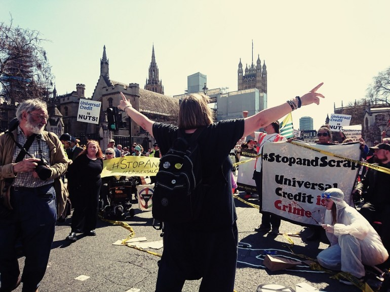 Paul aPeters leads the DPAC protest