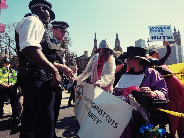 Police threatened to arrest disabled people