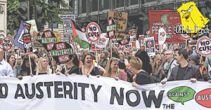 Anti-austerity protestors