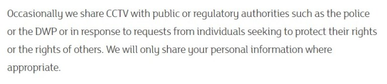 Sainsburys privacy policy