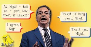 Nigel Farage in conversation with himself