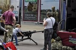 Child with machine gun 23 Jun '18 Liecester AFD