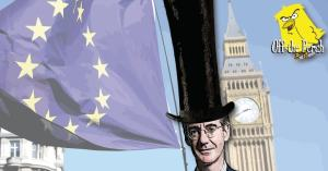 Jacob Rees-Mogg with a massive tophat