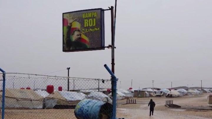 Kamp Roj flag at entrance