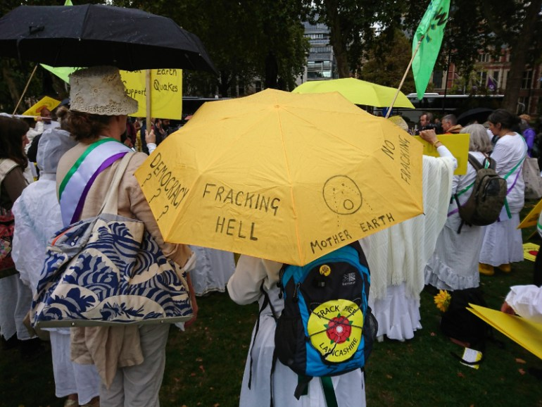 An anti fracking umbrella