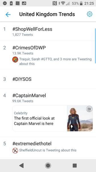 Crimes of DWP trending