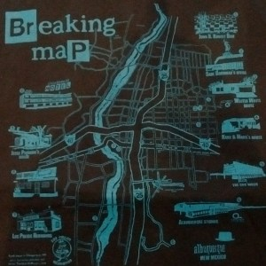 Breaking Map t-Shit