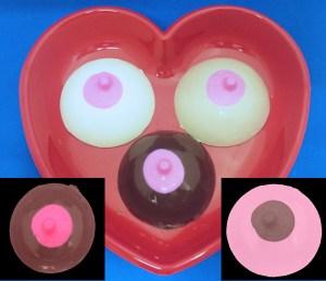 Large Solid Chocolate Boob Single