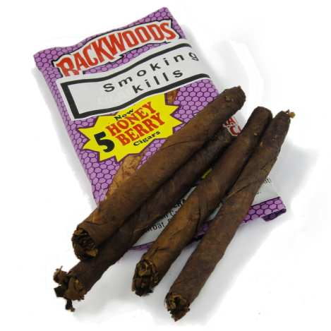 A pack of backwoods used to make blunts with.