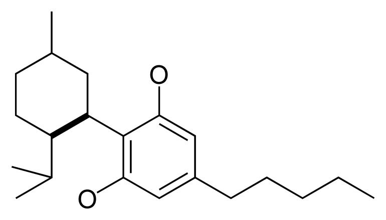 CBD chemical compound structure Cannabidiol