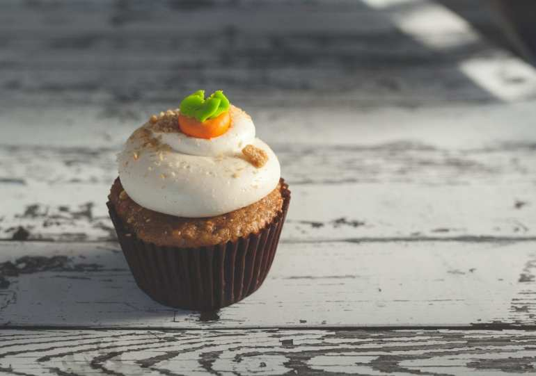 Cannabis infused pumpkin spice cupcakes infused with cannabis butter.