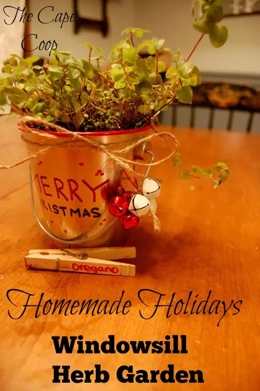 Homemade Holidays Windowsill Herb Garden