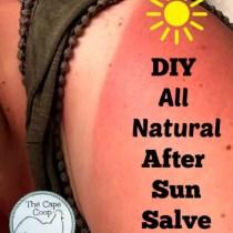 DIY All Natural After Sun Salve
