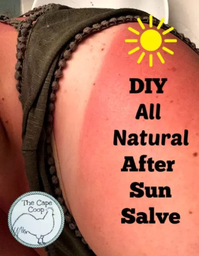 DIY All Natural After Sun Salve