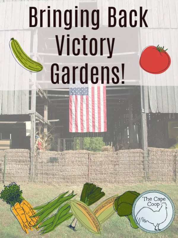 It's time to bring back Victory Gardens! Plant now for your family! For your health!