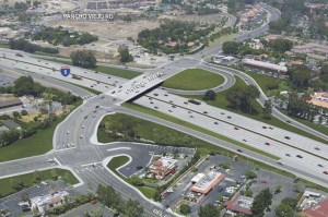An overhead rendering of the proposed changes in Caltrans' Interstate 5/Ortega Highway Interchange Improvement project. Courtesy image