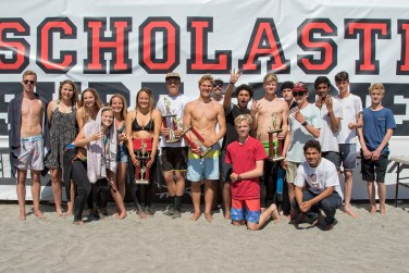 The San Juan Hills High School surf team captured its fourth consecutive Scholastic Surf Series State Championship title this season. Photo: Courtesy