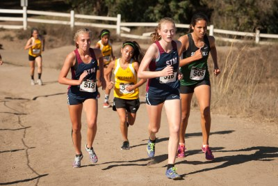 Audrey Larson, Charlotte Jones and the St. Margaret's girls cross country team begin the season ranked fourth in CIF-SS Division 5. Photo: Courtesy