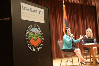 5th District Orange County Supervisor Lisa Bartlett delivered updates at the State of South County Address. Photo: Shawn Raymundo